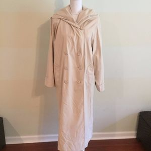 CHRISTIAN DIOR VINTAGE hooded tan rain trench coat